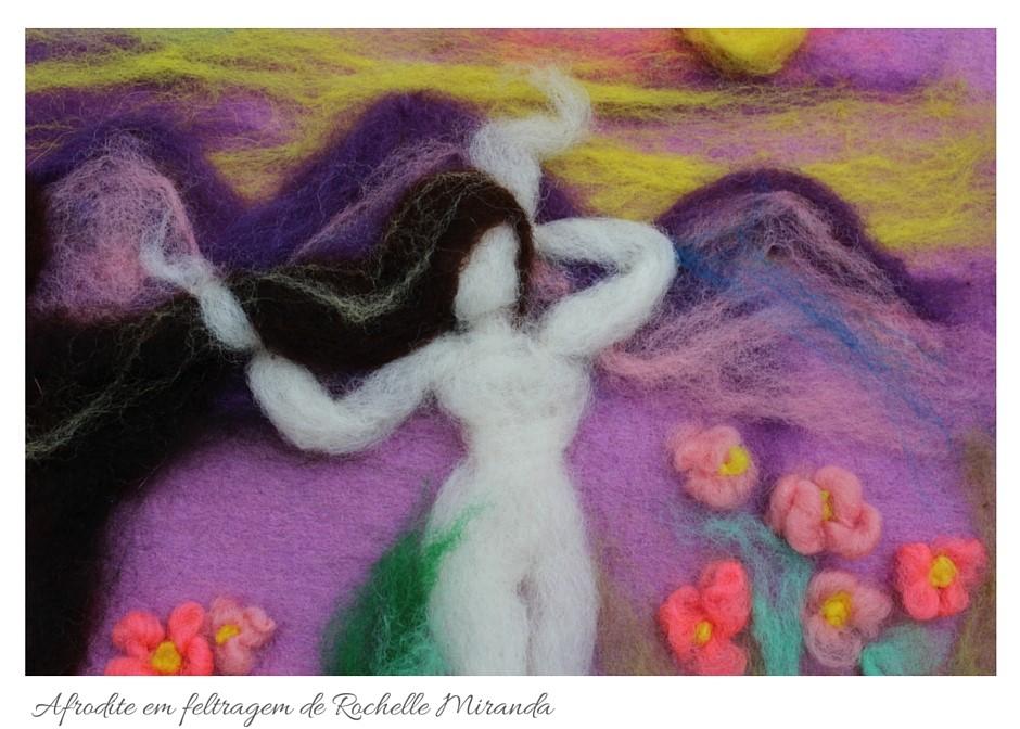 Afrodite em feltragem da artista Rochelle Miranda - Detalhe