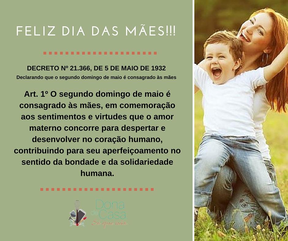 Decreto do Dia das mães
