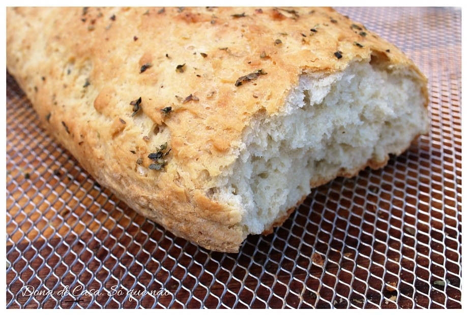 Pão Italiano feito em casa em 1 hora. Hummm....